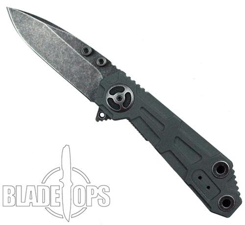 """Quartermaster Knives Orville """"Rick"""" Wright Flipper Knife, Texas Tea"""