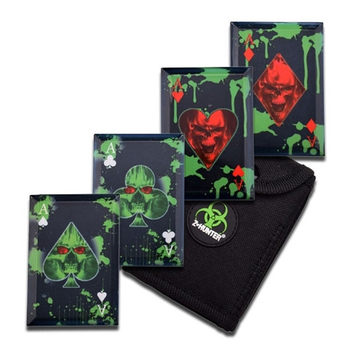 Z-Hunter Throwing Cards, Set of 4, Undead Images