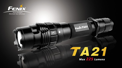 Fenix TA21 LED Flashlight, Black, 225 Lumens