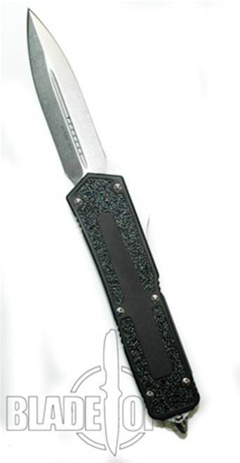 Microtech QD Scarab OTF D/A Knife, D/E, Stonewash Plain Blade, 110-10
