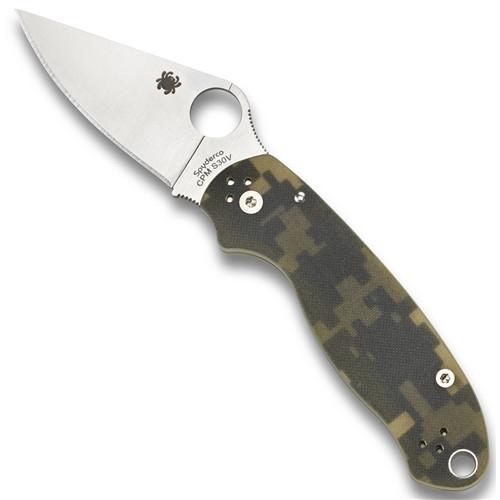 Spyderco C223GPCMO Digi Camo Para 3 Folder Knife, CPM-S30V Satin Blade