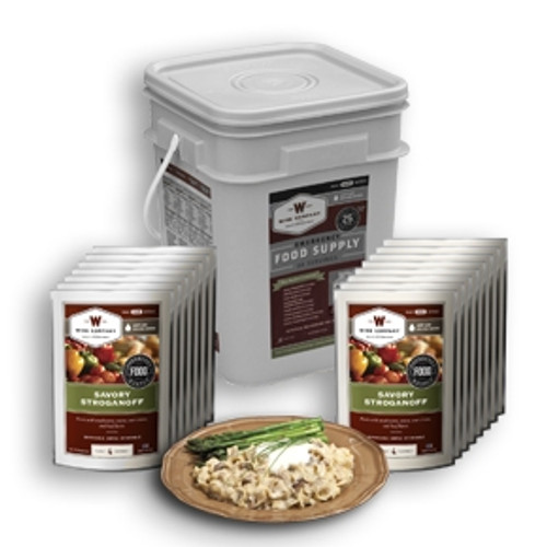 Wise Food Storage 60 Serving Entree Grab and Go Bucket