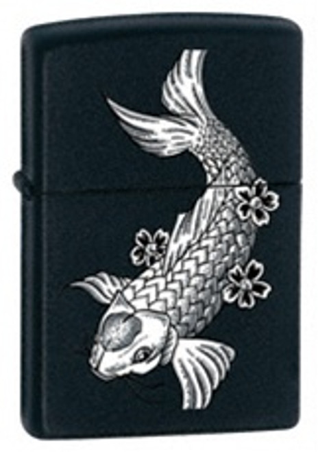 Black Matte Fish Zippo, 24713