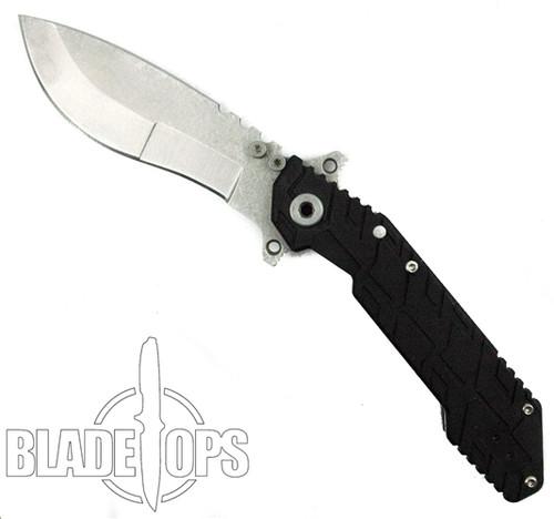 Quartermaster Knives Boss Hog QSE-1 Folding Knife, Kukri Stonewashed