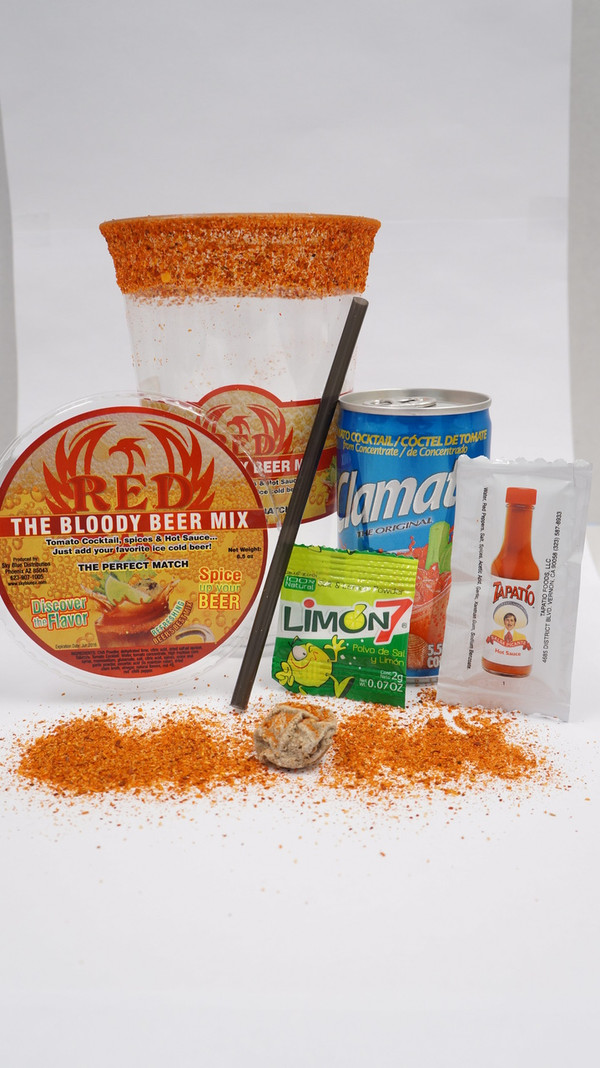 """RED  """"THE BLOODY BEER MIX"""""""