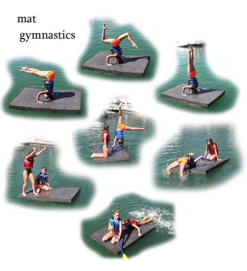Yoga Floating Workout Mat 500 lbs.
