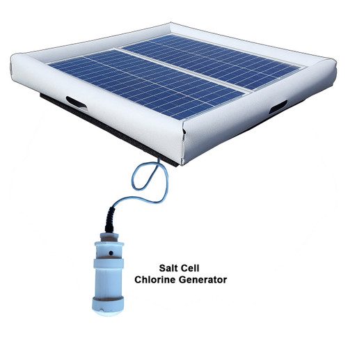 Savior Salt System Pool Chlorine Generator 60-watt Solar Powered