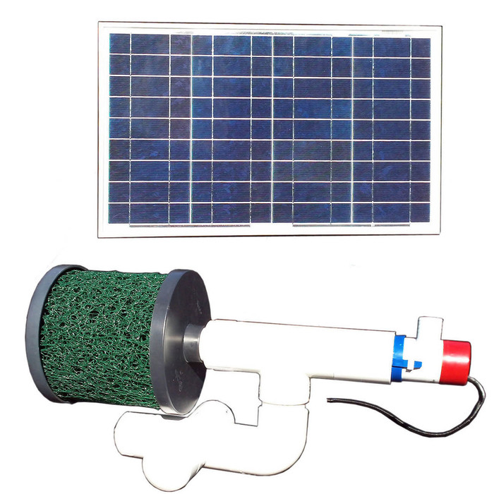 Bottom Feeder 5000 Gallon Pond 30-watt Solar Pump and Filter System