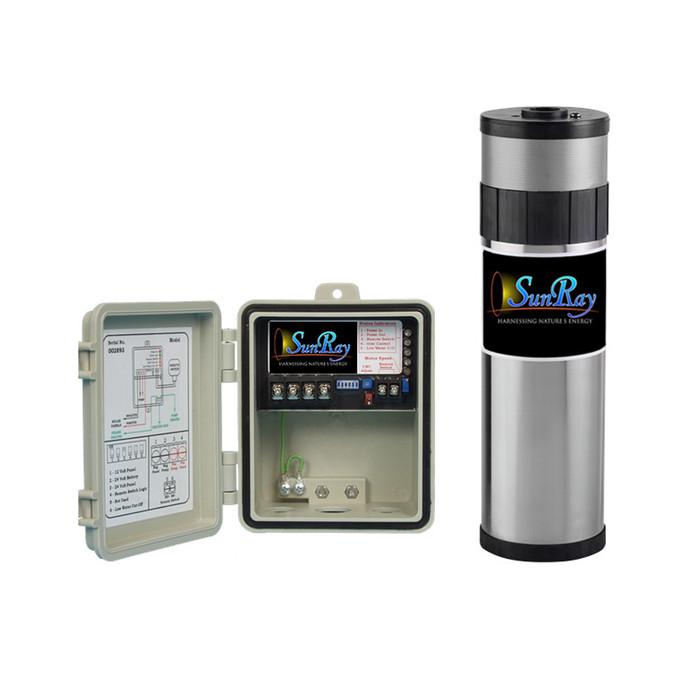 SunRay Solar Well Pump 200' Kit with PV Solar Panels - 1.5 gpm 700 gpd