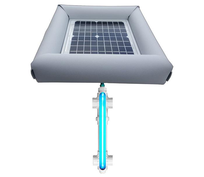 Savior UV Ultraviolet Pool Spa Sanitation Disinfection Systems 20-watt Solar Powered 1,000 Gallon