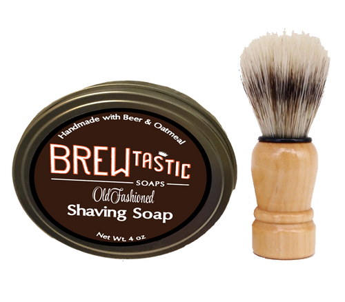 Get both the Shaving Soap and Shaving Brush to start shaving the old-fashioned way. The brush is required to use Shaving Soap. Simply soak the brush in warm water for a minute, and start lathering the soap into a frothy cream. A great gift!