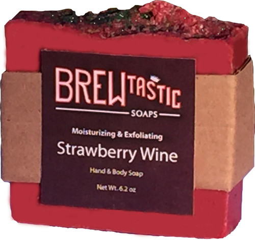 Like the song, the bittersweetness of strawberries is all over this bar in its creative design: a pinch of poppy seeds, mouth-watering scent, shower- & skin-safe glitter, and a dark pink hue. Please resist the urge to eat it.
