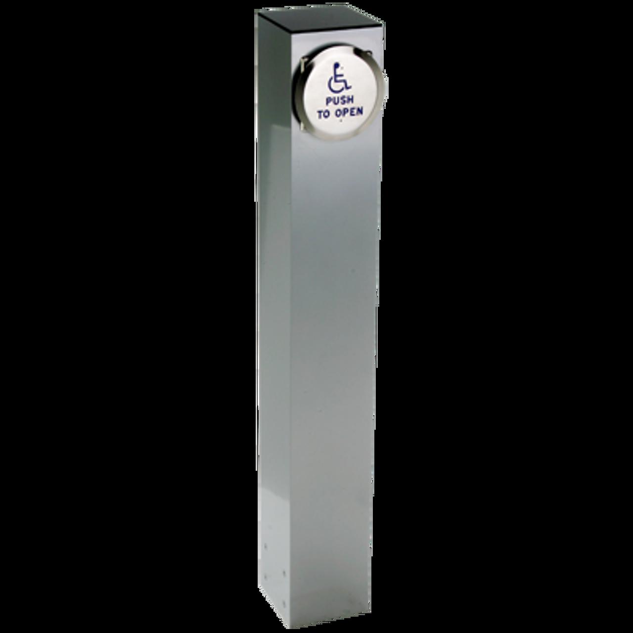 54 Quot X 6 Quot Square Bollard With Push Plate Actuator Careprodx