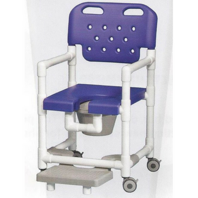 Elite Series Rolling Shower Commode Chair With Footrest