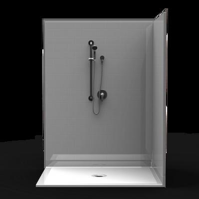 Plain Wall Corner Shower