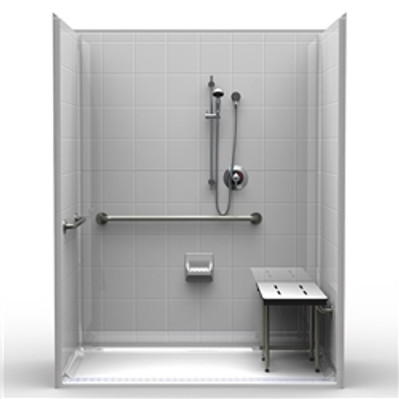 "63 X 37 ADA Shower With 1"" Threshold"