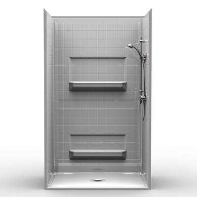 Barrier Free Shower with Beveled Threshold