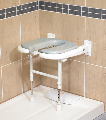 Shower Chair With Cut-Out