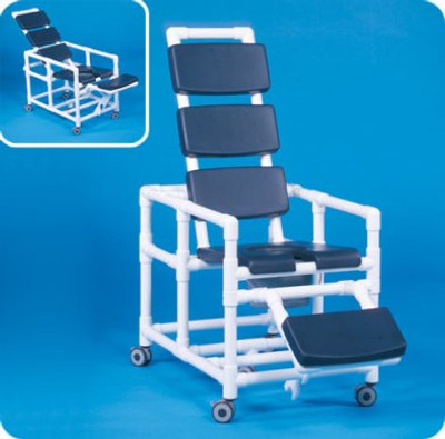 Super Deluxe Reclining Shower Commode Chair