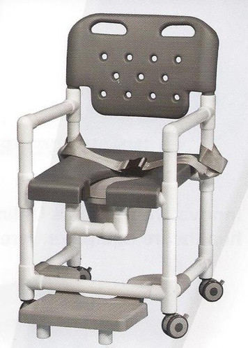 Elite Series Rolling Shower Chair With Seat Belt And