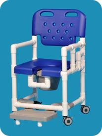 Elite Rolling Shower Chair With Drop Arm And Footrest