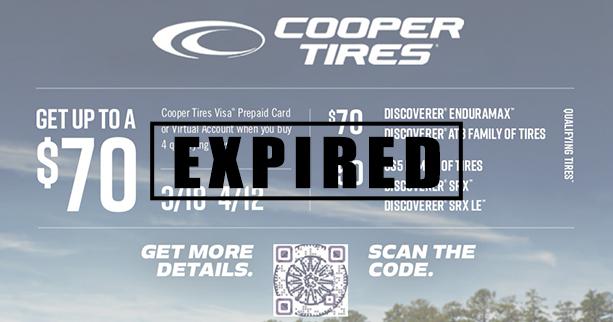 Cooper Tire Rebate Details