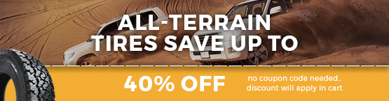 All Terrain Tires 40% Off Sale
