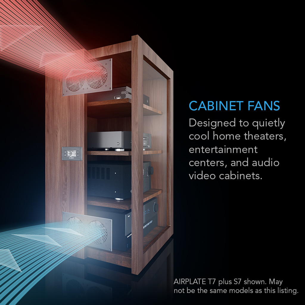 Superieur Home Theater, Entertainment Center, AV Cabinet Cooling Fan