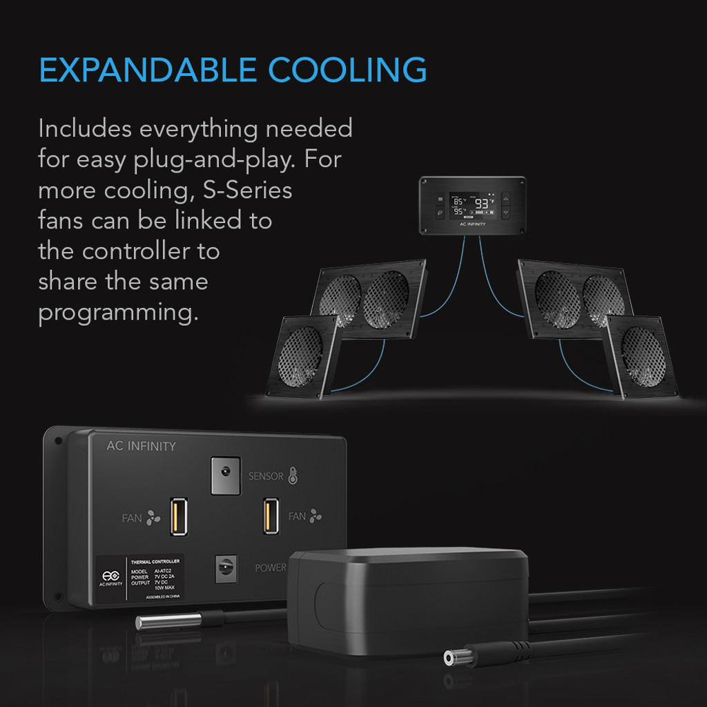 airplate t7 home theater and av quiet cabinet cooling fan system rh acinfinity com