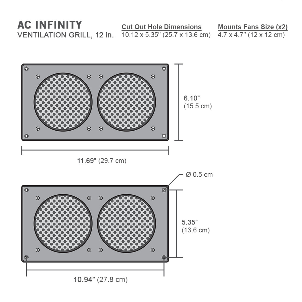 Cabinet Ventilation Grill