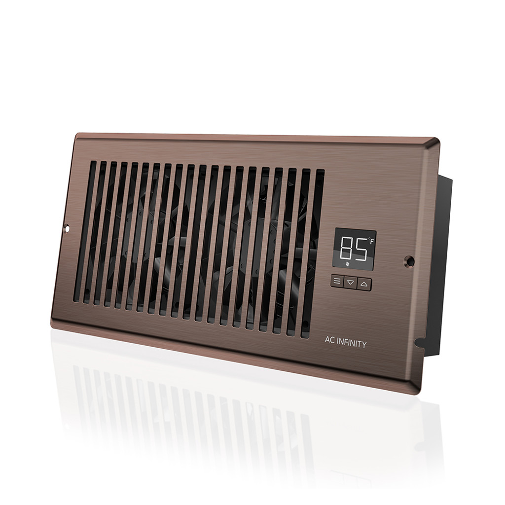 airtap t4 quiet register booster fan system brown bronze for 4 x 10 registers ac infinity. Black Bedroom Furniture Sets. Home Design Ideas