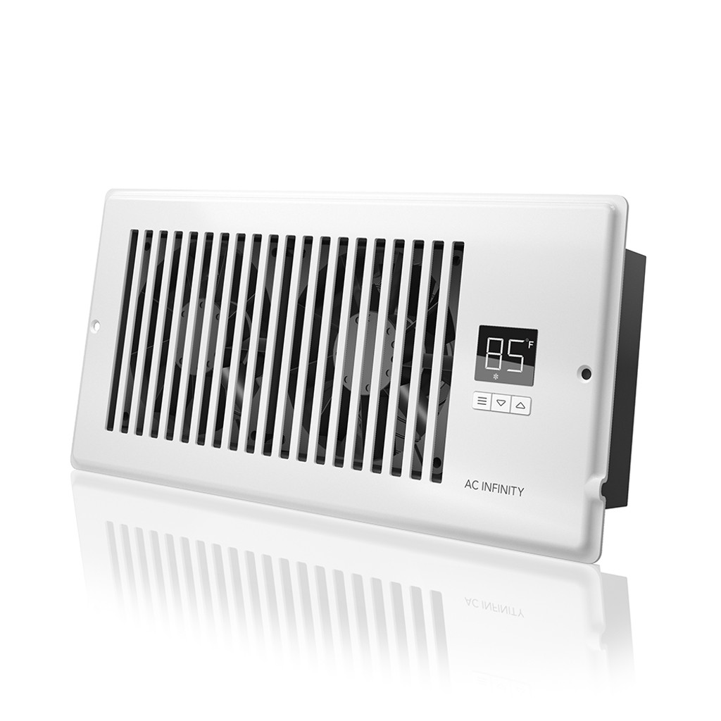 airtap t4 quiet register booster fan system white for 4 x 10 registers ac infinity. Black Bedroom Furniture Sets. Home Design Ideas