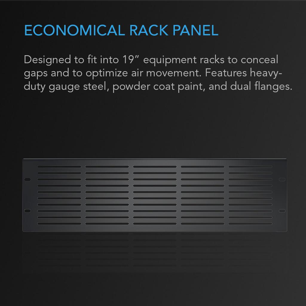 Rack Panel 3U Vented