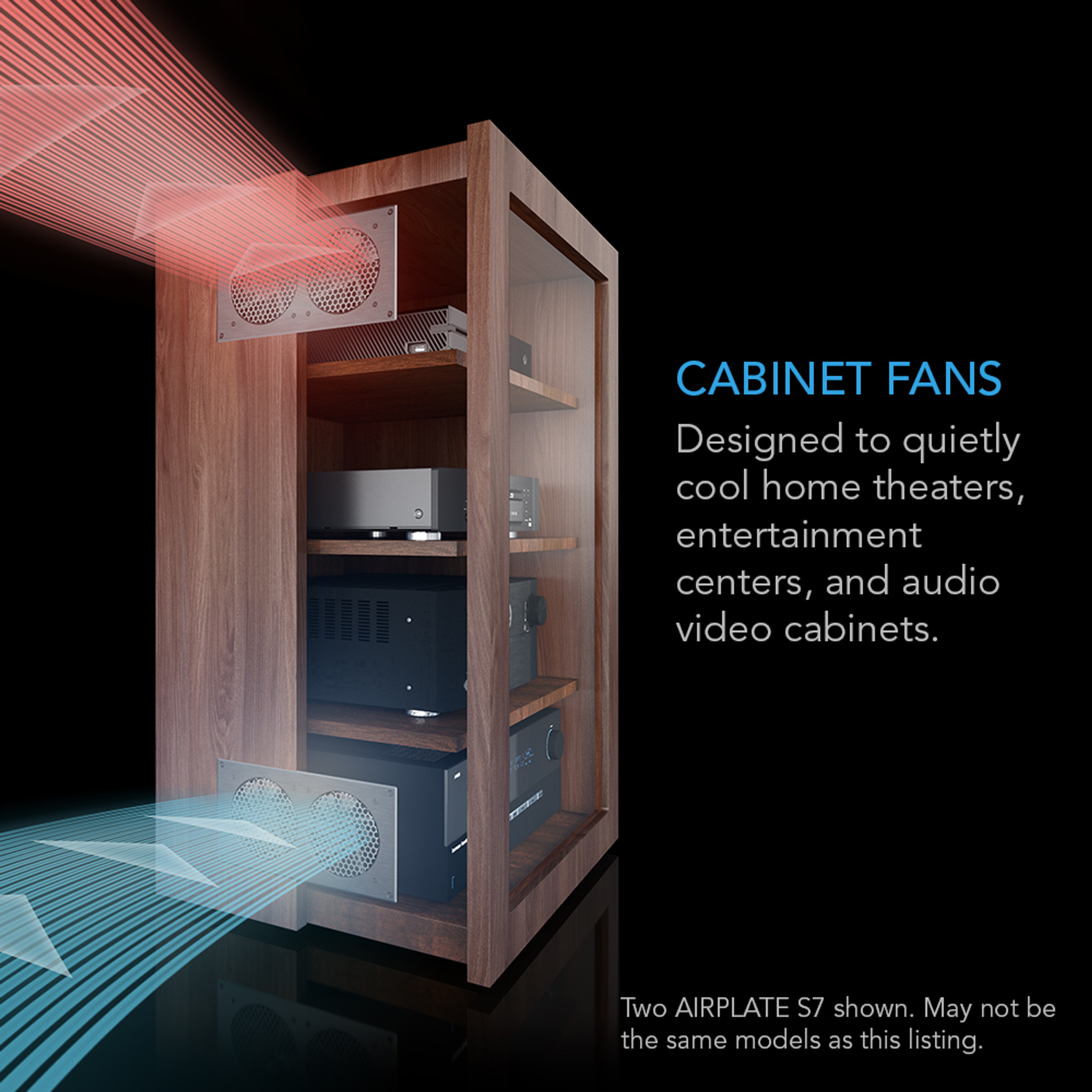 Airplate S9 Home Theater And Av Cabinet Quiet Cooling Fan