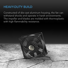 172mm ac axial muffin cooling fan