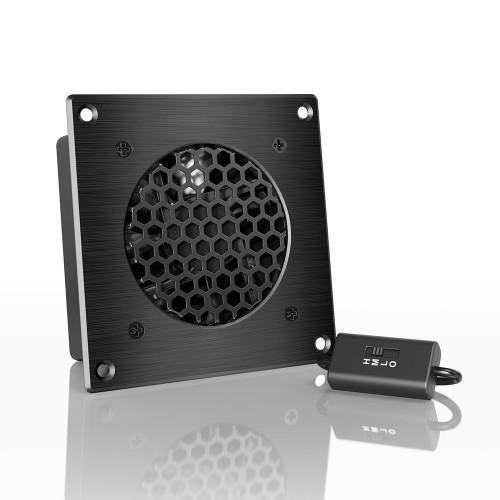 AIRPLATE S1, Home Theater and AV Quiet Cabinet Cooling Fan System, 4 Inch