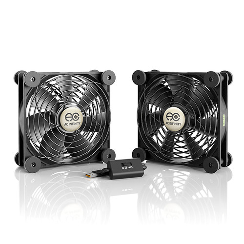 MULTIFAN S7, Quiet USB Cooling Fan, Dual 120mm