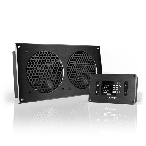 AIRPLATE T7, Home Theater and AV Quiet Cabinet Cooling Fan System, 12 Inch