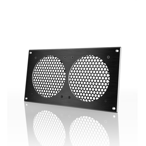 AC INFINITY, Cabinet Passive Ventilation Grille Black, 12 Inch