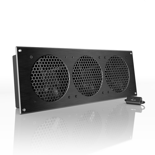 AIRPLATE S9, Home Theater and AV Cabinet Quiet Cooling Fan System, 18 Inch