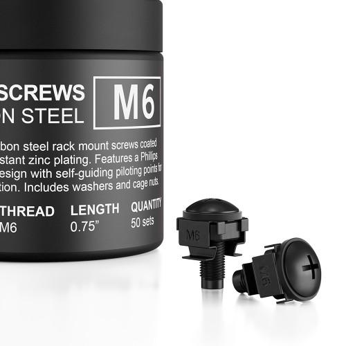Carbon Steel Rack Screws 50-piece set, M6