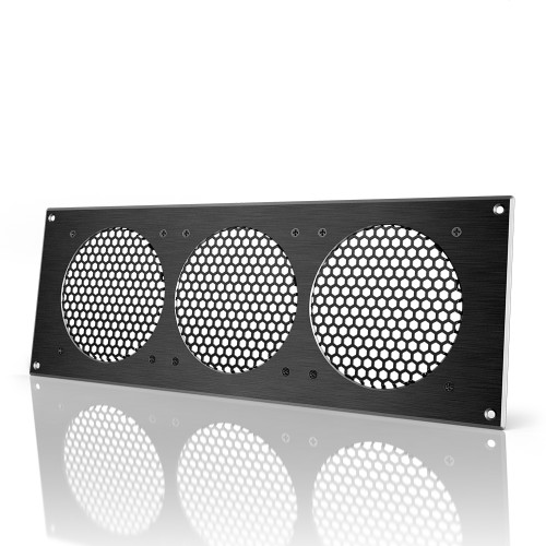 AC INFINITY, Cabinet Ventilation Grille Black, 18 Inch