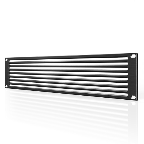 AC INFINITY, Anodized Aluminium Rack Panel Vented 2U