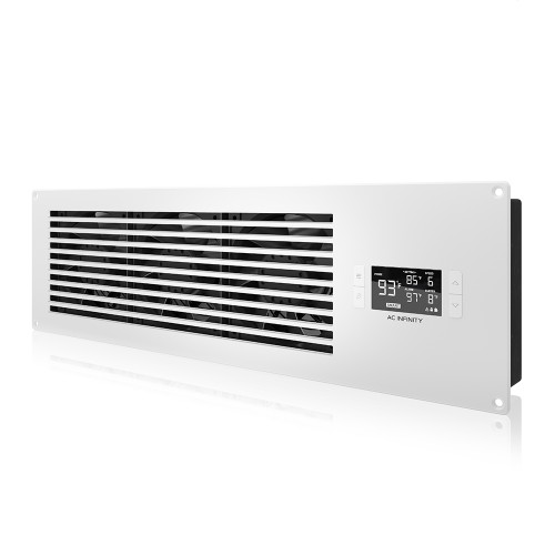 "(FUTURE PRODUCT) AIRFRAME T9-N PRO White, AV Equipment Closet and Room Fan System 22"", Intake"