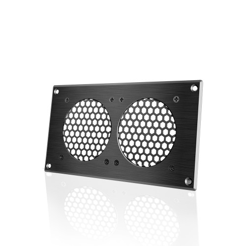 AC INFINITY, Cabinet Passive Ventilation Grille Black, 8 Inch