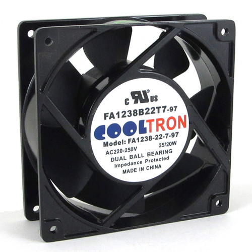 230V AC Cooltron Fan 120mm x 38mm High Speed