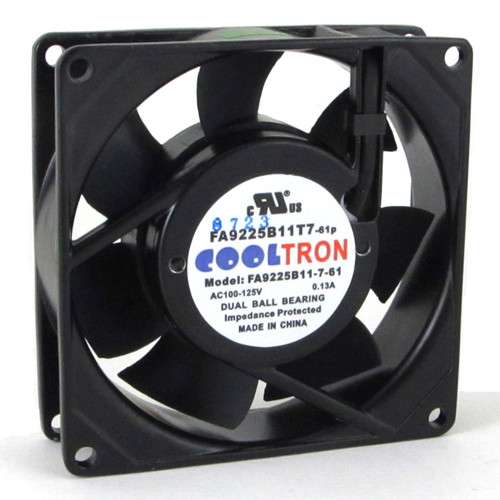 115V AC Cooltron Fan 92mm x 25mm Low Speed