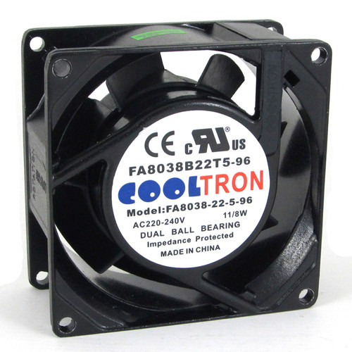 230V AC Cooltron Fan 80mm x 38mm High Speed