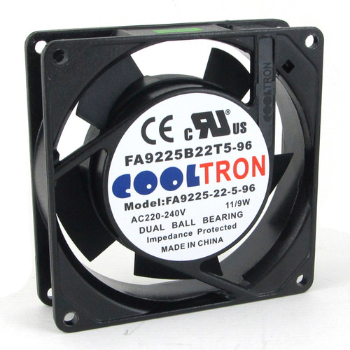 230V AC Cooltron Fan 92mm x 25mm High Speed
