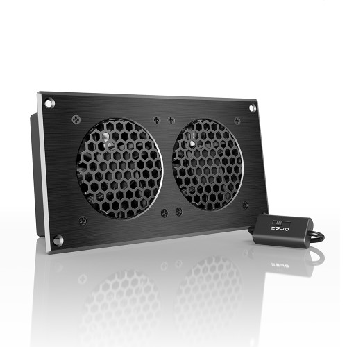 AIRPLATE S5, Home Theater and AV Quiet Cabinet Cooling Fan System, 8 Inch